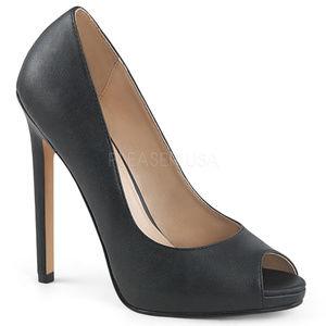 Shoes - 5 Inch Stiletto High Heel Platform Peep Toe Shoes